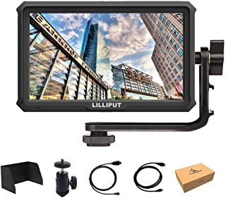 Lilliput A5 5 inch 1920x1080 HD 441ppi IPS DSLR Screen Camera Field Monitor 4K HDMI Input Output Compatible with Canon Nikon A7 A7S III A9 Panasonic GH5 GH5s Zhiyun Crane 2 M TILTA G2X DJI Ronin-S