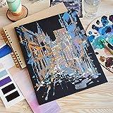 Arteza Malkarton, 22.9 x 30.5 cm, 14 Stück, schwarze Malpappe, grundierte Leinwand-Pappe 100% Baumwolle, für Malerei, Acrylfarben, Ölfarben & nasse Kunstmedien, Leinwände für Profis & Hobbymaler - 5