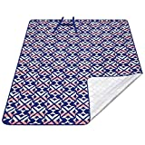 KingCamp Extra Large Outdoor Picnic Blanket, Waterproof, Sand-Proof, Heat Insulation, Aluminum Films Bottom, Machine Washable Camping Mat for Beach, Park(Rosered, 150x200 cm)