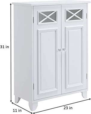 Elegant Home Fashions Dawson Bathroom Cabinet, white