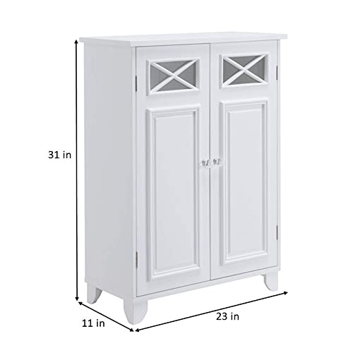 Elegant Home Fashions Dawson Bathroom Cabinet, white