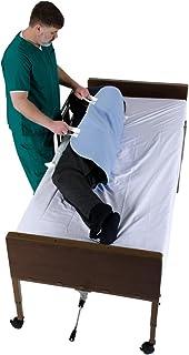 """قرارگیری پد تختخوابی با دستگیره ، زیرپوش محافظ ملافه تشک بی اختیاری با تسمه هایی برای انتقال آسانسور آسانسور - قابل استفاده مجدد ، قابل شستشو ، تهیه تجهیزات پزشکی با کیفیت بیمارستان ضد آب (34 """"x 52"""")"""