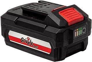 Grizzly Tools AKS 2040 T - Podadora telescópica con batería (20 V, 4,0 Ah)