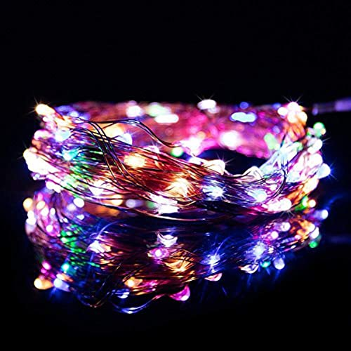 RGB Copper String Lights - 33ft 100 LEDs - Copper Wire Multicolor Decor Rope Light-