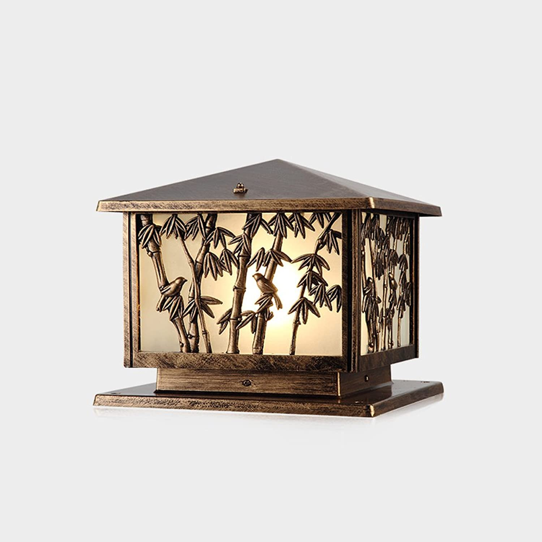 Vampsky Europische Victoria Glas Laterne Outdoor Column Lampe Kreative Vintage E27 Dekoration Aluminium Metallsule Light Post Strae Sule Lampe Für Terrasse Balkon Rasen Garten Villa Park