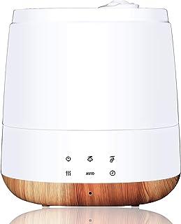 加湿器 ハイブリッド式 加熱超音波式 6.0L大容量 卓上 温冷ミスト アロマ対応 リモコン操作 6段階加湿 自動湿度調整 上から給水 タイマー&自動停止機能 静音 省エネ お手入れ簡単 乾燥&花粉症対策 木造約8.5畳/プレハブ洋室約14畳