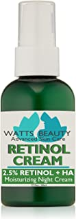 Watts Beauty 2.5% Retinol Cream - Anti Aging Retinol Enhanced with Hyaluronic Acid, Vitamin E & Phospholipids - Works Wond...