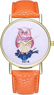 Ladies Wrist Watches on Clearance,Stainless Steel Watches for Women,Women Watches,Roman Numerals Watch Women (Orange)
