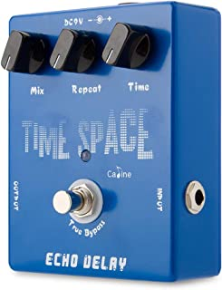 Caline Echo Delay Guitar Effects Pedal Time Space Bass Distortion True Bypass Blue CP-17
