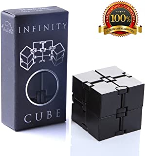 Infinity Cube Fidget Toy, Sensory Tool EDC Fidgeting Game for Kids and Adults, Cool Mini Gadget Best for Stress and Anxiety Relief and Kill Time, Unique Idea that is Light on the Fingers and Hands