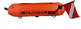 SalviMar Buoy Torpedo • in a case • with Two Flags (Cmas & Alpha)