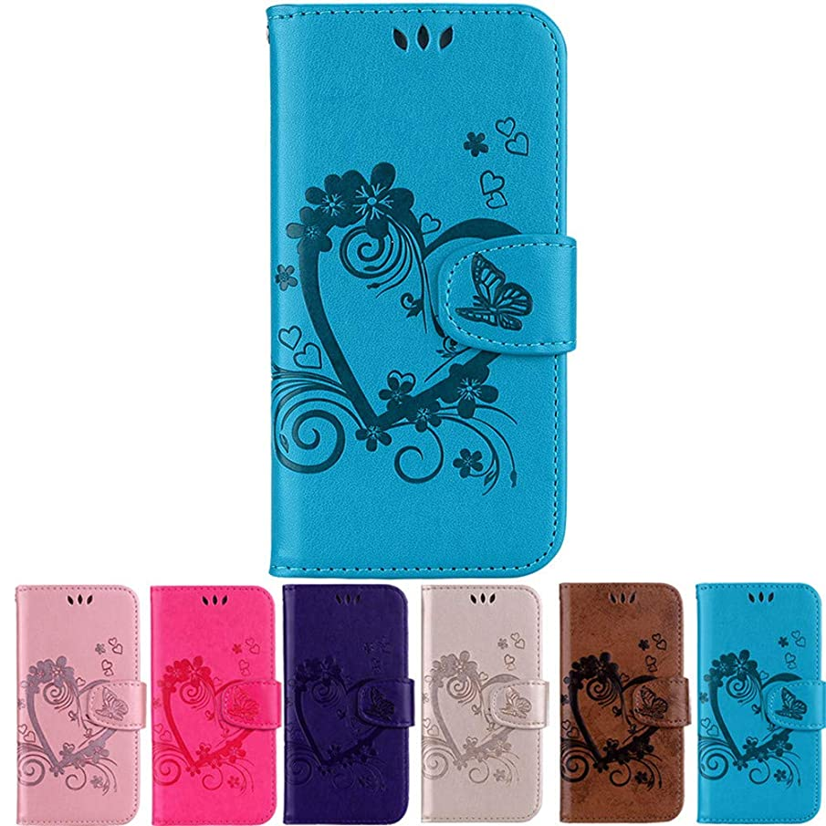 XYX Love Heart PU Leather Wallet Case for Samsung Galaxy S9 Plus