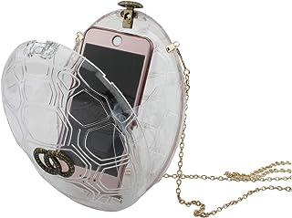 LETODE Women Acrylic Transparent Evening Clutches Shoulder Bag Cross-Body Purse Party Bag (CLEAR)