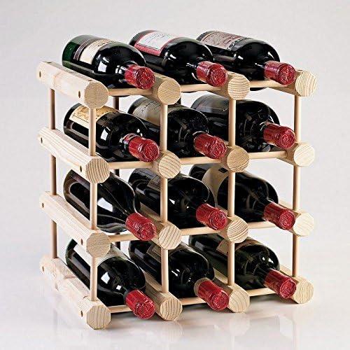 Amazon Com Modular 12 Bottle Wine Rack Natural Home Kitchen