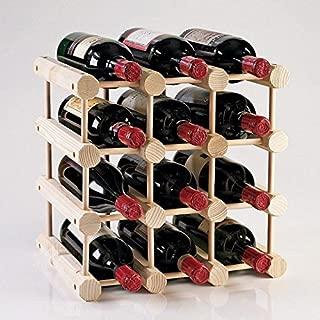 Modular 12 Bottle Wine Rack - Natural