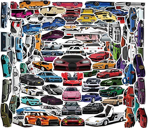 100pcs JDM Car Stickers Decals Vinyl Waterproof Stickers Japanese Racing Car Stickers for Kids Teens Boys Adults for Cars Laptop Water Bottles Computer Hydroflask Skateboard