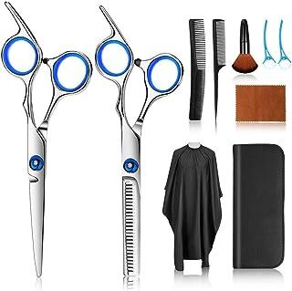 کیت های قیچی مو ، 10 عدد قیچی آرایشگری از جنس استنلس استیل