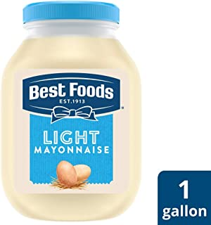 Best Foods Light Mayonnaise Jar Made with 100% Cage Free Eggs, Gluten Free, 1 gallon, Pack of 4