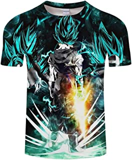 Goku Vegeta DBZ Dragon Ball Super Saiyan Shirt for Men Kid Adult Teen,Last Anime 3D Print Short Sleeve T Shirt
