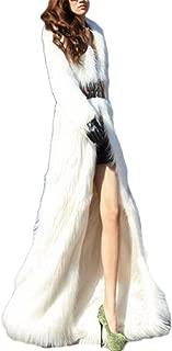 Women's Winter Outerwear Lapel Long Maxi Faux Fur Coat