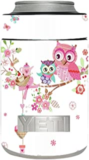 Skin Decal Vinyl Wrap for Yeti Colster Rambler Can Cup Skins Stickers Cover / Owls in tree teacup cupcake