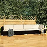 pedkit Set de Sofás de Jardín 4 Piezas y Cojines Sofas Jardin Exterior Ratán Sintético Negro