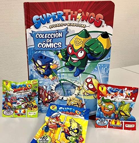 Libro del Coleccionista de Cómics Superthings + Sobrecitos con figuritas
