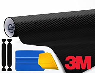 3M 1080 Carbon Fibre Black Air-Release Vinyl Wrap Roll Including Toolkit (6ft x 5ft)