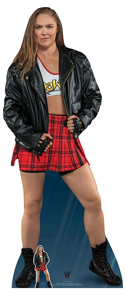 Star Cutouts SC1202 Official Lifesize Cardboard WWE Figure Ronda Rousey Height 172cm, Multicolour