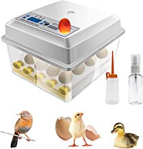 Hatching Egg Incubator 16 Eggs Digital Mini Automatic Incubators with Turner for Hatching..