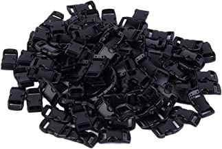Easyeeasy Plastic 100 Stuks Singels Slot 3/8 Inch Voorgevormde Gebogen Side Release Gespen voor Paracord Armband ca. 28x 18mm