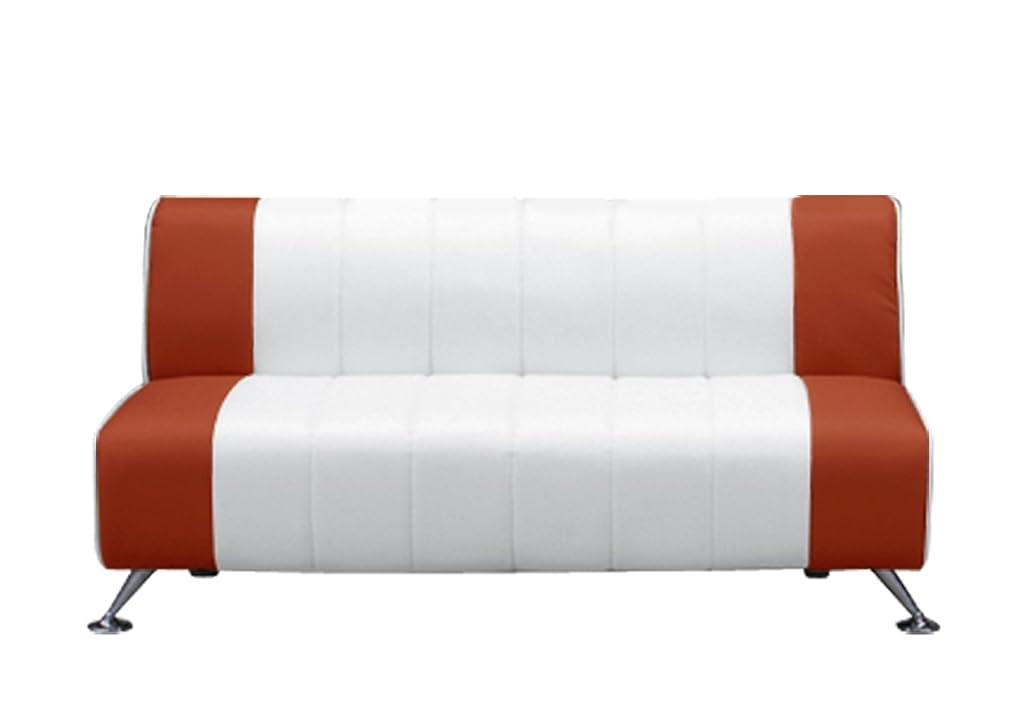 結論割合ストライプ大川家具 関家具 コンパクト2人掛けソファ (幅128cm 素材/合皮) レッド 155527