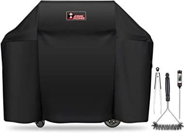 Kingkong 7130 Grill Cover for Weber Genesis II 3 Burner Grill and Genesis 300 Series Grills (Compared to 7130) including Brus