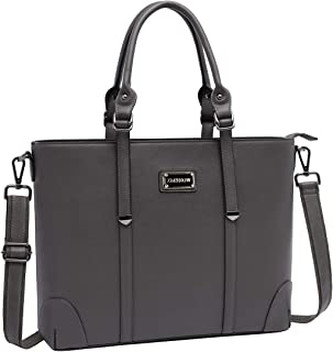 Laptop Bag,Work Tote Bag Fits Up to 15.6 Inch Laptop Tablet Notebook for Women Business Travel