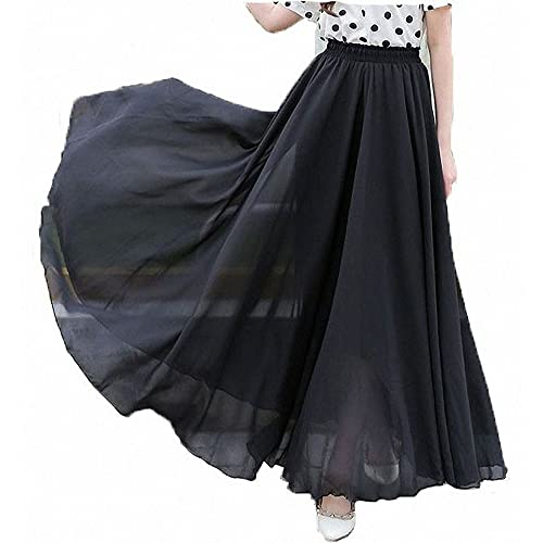 8e9b1f2bc42 Afibi Womens Chiffon Retro Long Maxi Skirt Vintage Dress