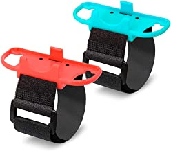 (2 Pack) Orzero Just Dance Adjustable Wristbands Set Compatible for Nintendo Switch Joy-Con Controllers Gamepad with Adjustable Hook&Loop Strap