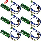LZH 6 PCIe Pin Molex PCI-E 16 X auf 1 X Powered Riser Adapter Karte w/60 cm USB 3.0 Verlängerung Kabel & Molex zu SATA Power Kabel – GPU Riser Adapter ethereum Bergbau ETH