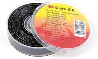 3M 45BK1920 Scotch glasvezel versterkte polyesterband, 19 mm x 20 m, 0,2 mm, zwart