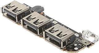 ug land india 3usb power bank charging module circuit board step up boost power supply module-Black