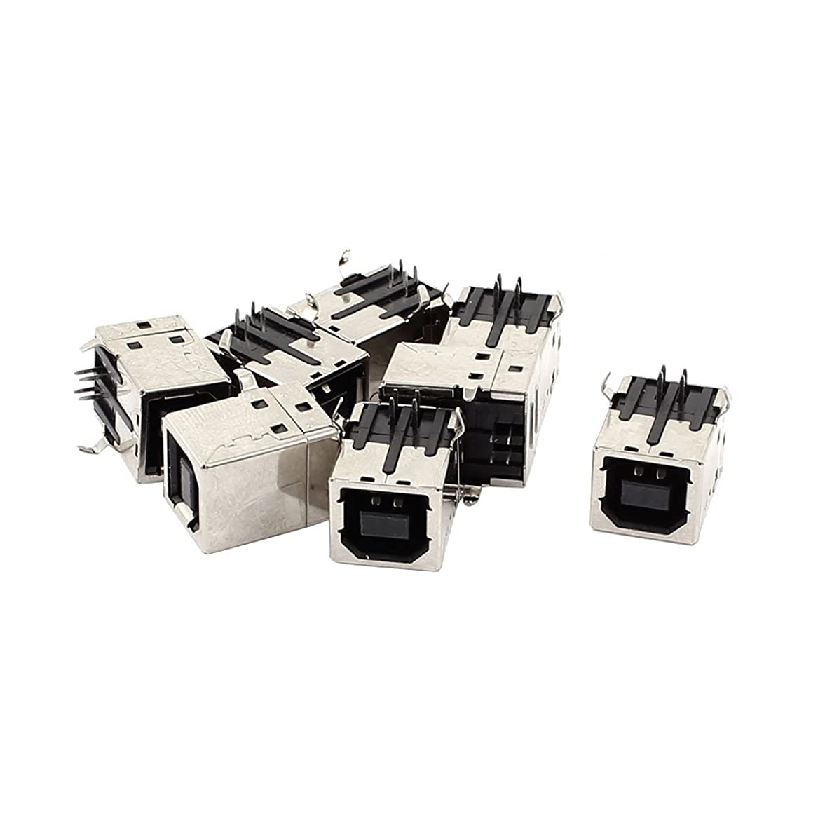 uxcell 8pcs PCB Mount USB 2.0 Type B Female Socket Printer Connector Adapter