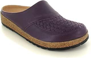 HAFLINGER Women's Braided Leather Clog, Purple