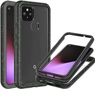 CoverON Full Body Cover for Google Pixel 4a 5G Case 2020, Ultra HD Clear Heavy Duty Rugged Anti-Slip Guard - Black (Spotte...
