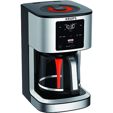 KRUPS Cafetera de Goteo Savoy Turbo, Flavor Mix tubo para mezclar aromasProgramable, 14 tazas,