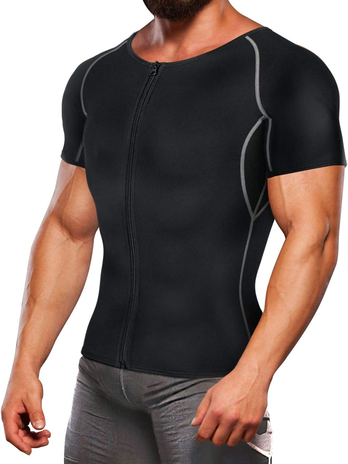 TAILONG Neoprene Sweat Suit Weight Loss Shirt Men Exercise Cloth