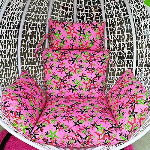 DIELUNY Cojín individual de cesta, cojines colgantes para sillas gruesos, para el hogar, balcón, ratán, nido, colchoneta trasera con cremallera, lavable, 60 x 50 x 70 cm