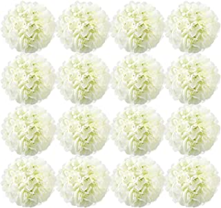 Auihiay 16 Pieces 6 inch Silk Hydrangea Flowers Artificial Flowers with Stems for Wedding Home Decorations
