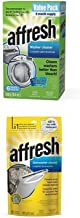 Affresh Washer Machine Cleaner, 6-Tablets, 8.4 oz Plus Affresh W10282479 Dishwasher Cleaner, 6 Tablets