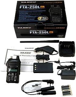 YAESU FTA-250L Transceptor Banda Aerea Frecuencia Am 108-136, Canales 250 Potencia 5 Watios