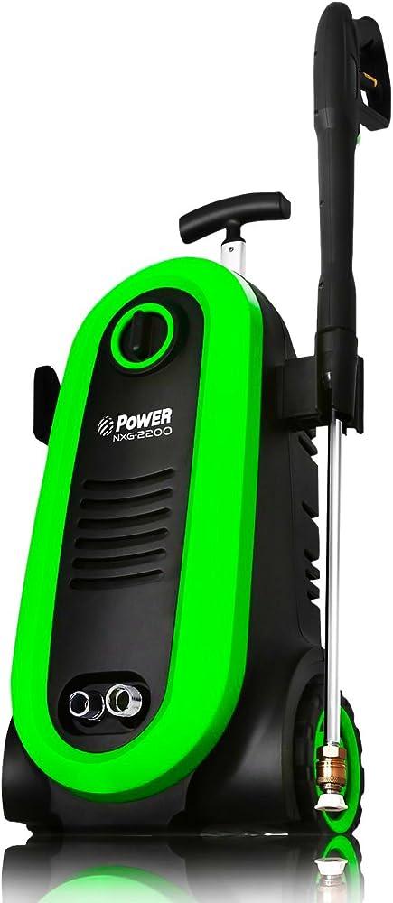 Power Hidrolimpiadora de Alta Presión 2300 PSI eléctrico sin escobillas 1,76 Gpm inducción Verde