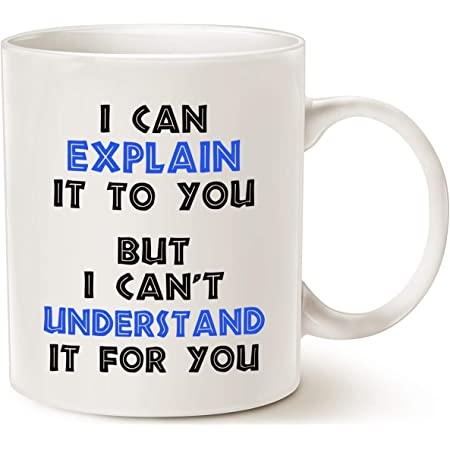Funny Engineer Coffee Mug Christmas Gifts, I Can Explain It to You But I Can't Understand It for You Best Gifts for Engineer Porcelain Cup White 11 Oz